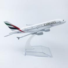 Mô Hình Máy Bay – Máy bay mô hình AIRBUS A380 hãng UAE Emirates Airlines đúc Kim Loại có kèm đế trưng bày