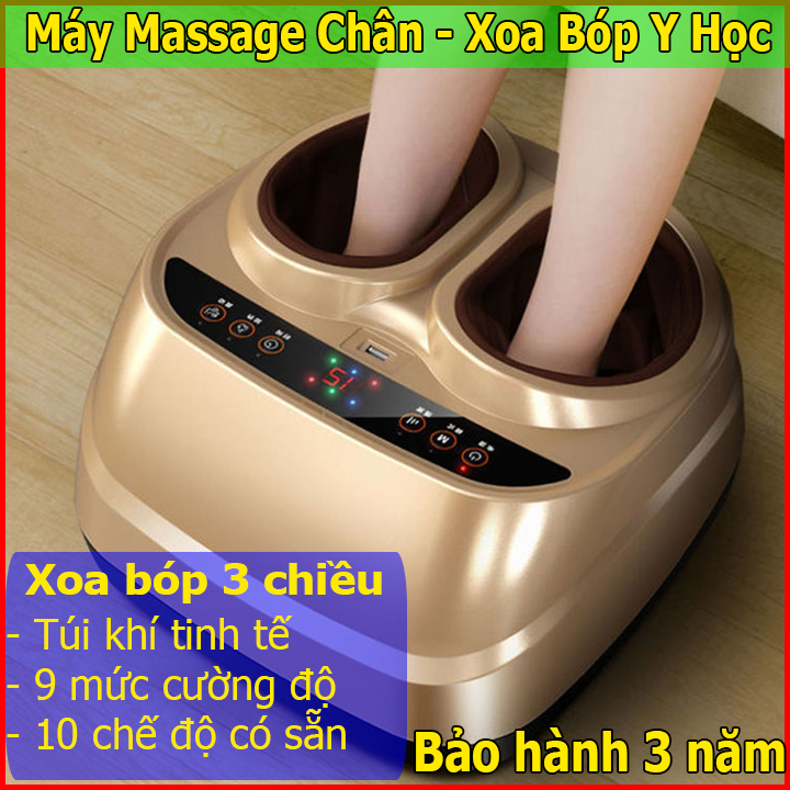 Máy Massage Chân đa năng công nghệ 4.0 – Máy massage bàn chân xoa bóp y học, máy mát xa chân 5 chức năng giảm hoàn toàn mệt mỏi