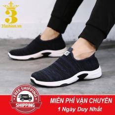 [Mẫu HOT⚡] Giày Lười Thể Thao Nam 3Fashion Shop Vải Mềm Nhẹ Cực Kỳ Êm Chân – 3161