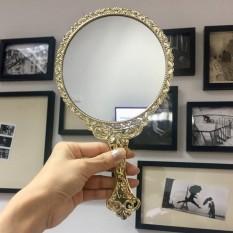 Gương cầm tay công chúa hình tròn Hàn Quốc cao cấp chống bong tróc, bay màu