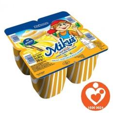 Vỉ 4 hộp Váng sữa MIKUS xuất xứ Ba Lan vị vani – Socola 60g [DATE T2/2022]