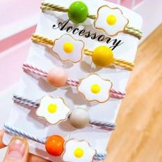 dây thun cột tóc đơn giản phong cách MELY quả trứng BT04