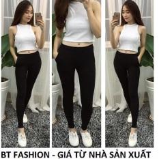 Quần Dài Nữ Thun Ôm Legging Thể Thao Thời Trang Hàn Quốc – BT Fashion (QTT01-TRƠN)