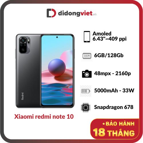Điện Thoại XIAOMI REDMI NOTE 10 6GB/128GB (CTY) – New