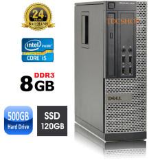 Case máy tính đồng bộ dell optiplex 7010 core i5 3470, ram 8gb, ổ cứng ssd 120gb, HDD 500GB. Hàng Nhập Khẩu
