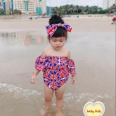 [HCM]Sét đồ bơi cho bé gái body kèm tuban bé gái kate thái cho bé từ 7kg đến 20kg