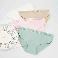 Quần Lót Nữ Muji Nhật Lẻ Và Combo 5 Cái Quần Lót Cotton Phối Lưới Gân Tăm Tre Kháng Khuẩn Ngăn Mùi Hôi Thoáng Mát Thiết Kế Quyến Rủ Nhập Khẩu Nhật