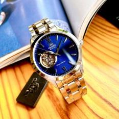 Đồng hồ Nam Orient Open Heart/Hở tim FAG03001D0 Automatic Mặt xanh,Kính Sapphire-Máy cơ tự động-Dây kim loại cao cấp-Size 39mm,vừa đa số cổ tay