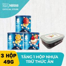 [FREESHIP TOÀN QUỐC]Combo 3 hộp Bánh ăn dặm Gerber vị Dâu táo Táo chuối Cam chuối (49g) + Tặng Hộp nhựa trữ thức ăn