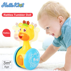 HelloKimi Đồ Chơi Trẻ Em Cho Trẻ Em Phim Hoạt Hình Tumbler ChildrenCartoon Tumbler Doll Roly-poly Baby Toys Giraffe Tumbler Doll Early Learning Toy Toddler Musical Wobble Rattles Ring Bell Music Learning Educational Toy Cute Shape Toy for Kids
