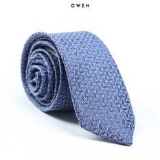 Cravat Owen màu xanh hoạ tiết 6cm CAV91151