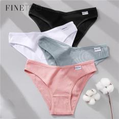 Quần lót nữ lưng thấp chất liệu cotton 100% không mùi kháng khuẩn thấm hút mồ hôi FINETOO màu sắc ngọt ngào