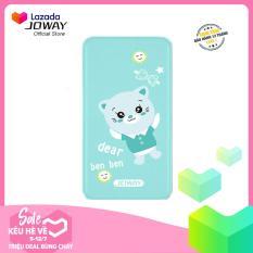 Pin dự phòng 10000mAh JOWAY JP116 siêu dễ thương cho iPhone, Android, Samsung, Oppo, Xiaomi (Xanh) – Hãng phân phối chính thức