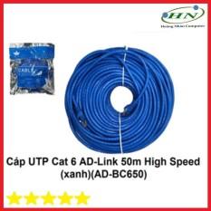 Cáp UTP CAT 6 AD-link 50 mét high speed màu xanh AD-BC650