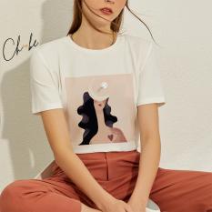 Áo thun nữ Choobe cộc tay thoáng mát, bộ sưu tập áo phông Nguyệt Hoa Nữ họa tiết độc đáo, phong cách cá tính- A06