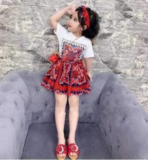 Bộ váy thổ cẩm cho bé gái + tu ban