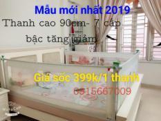 Thanh chắn giường 2m cao 90cm MẪU MỚI NHẤT 2019