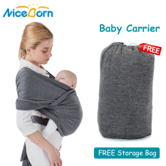 NiceBorn Địu dạng balo Địu em bé có ghế ngồi nhẹ nhàng, thoải mái Baby Wrap Carrier FREE Storage Bag