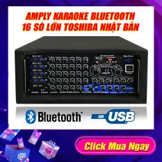 [ Có Video Test ] Amply 16 sò lớn Toshiba nhật bản, Ampli Bluetooth Sân Khấu Karaoke Hội Thảo Gia Đình Cali.D&Y PA-7900 – 2400W, Kết nối Bluetooht, Usb, Thẻ nhớ. Tặng dây Av 4 đầu tốt.