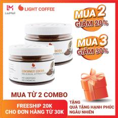 Combo 2 hũ bột cacao sữa dừa Light Cacao thơm cacao, béo vị dừa – 230gr/hũ