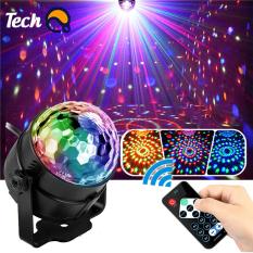Đèn nháy theo nhạc Techshop led cầu 7 màu, đèn nháy theo nhạc trang trí phòng karaoke, đèn nháy cảm biến âm thanh có remote điều khiển tiện lợi