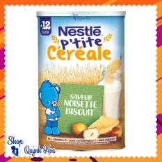 Bột lắc sữa Nestle Pháp [CHÍNH HÃNG] / Bột pha sữa Nestle 12 tháng vị bích quy và hạt phỉ – [CÓ TEM PHỤ TIẾNG VIỆT]