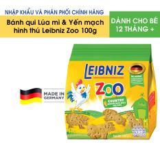 Bánh qui vị Lúa mì & Yến mạch hình thú cho bé Leibniz Zoo 100g – Nhập khẩu và phân phối chính hãng từ Đức