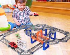 Đồ chơi lắp ráp- Ô tô tàu lượn- Lắp ráp mô hình đường ray xe ô tô cho bé Đồ chơi mô hình tàu lượn cho bé