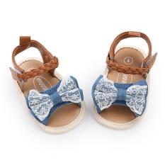 Giày tập đi sandal cho bé 0-18 tháng tuổi quai bện xinh xắn BBShine – TD6
