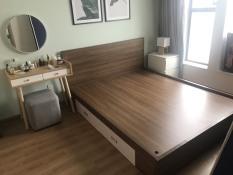 Giường ngủ có hộc kéo hiện đại, tặng kèm 1 kệ tab đầu giường+ 1 nêm cao cấp
