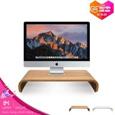 Kệ để màn hình gỗ uốn SMLIFE M49 – Kệ gỗ trang trí Plywood cao su uốn cong nguyên khối phủ Laminate WilsonArt