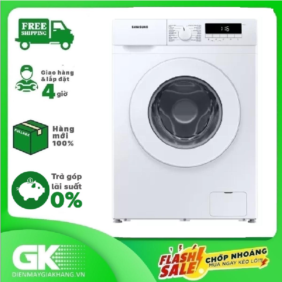 [Nhập ELAPR21 giảm 10% tối đa 200k đơn từ 99k]TRẢ GÓP 0% – Máy giặt Samsung Inverter 8 kg WW80T3020WW/SV Mới 2020- Bảo hành 2 năm