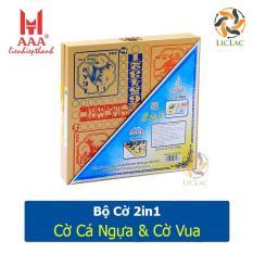 Bàn cờ 2in1 Cờ Cá Ngựa và Cờ Vua Liên Hiệp Thành hàng Việt Nam chất lượng cao, Bộ bàn cờ kèm quân cờ 2 trong 1 – LICLAC