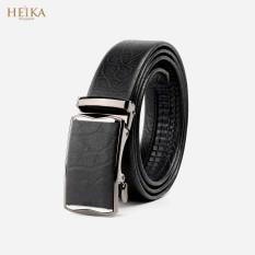Thắt lưng/ Dây nịt nam khoá tự động da bò cao cấp HEIKA119- Tặng kèm lót giày da