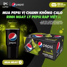 [Tặng ly Pepsi Rap Việt – FREESHIP – GIAO SAU NGÀY 17.11] Thùng 24 Lon Nước Ngọt Có Gas Pepsi Vị Chanh Không Calo (330ml/Lon)