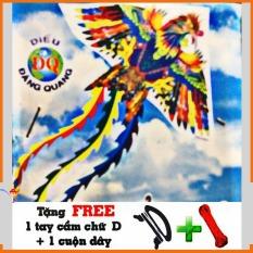 Diều chim phi điểu 3 đuôi + tặng kèm 1 tay cầm chữ D và 1 cuộn dây dài 30m
