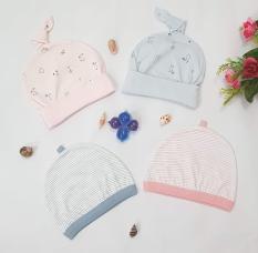 Mũ sơ sinh Miomio cotton mềm mại an toàn cho bé sơ sinh