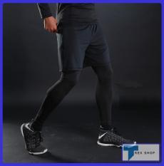 Combo 2 Quần 1 Quần Legging Nam (Quần Đùi Gym + Quần Giữ Nhiệt SP005) [TRex Shop]