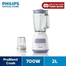 Máy xay sinh tố Philips HR2222/00 (Trắng) – Hàng phân phối chính hãng – Cối xay thủy tinh