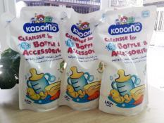 Combo 3 túi Nước rửa bình sữa Kodomo 700ml Thái Lan