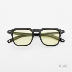 Kính thời trang nam nữ , Mắt kính đen , kính gọng vuông chống uv400 K341