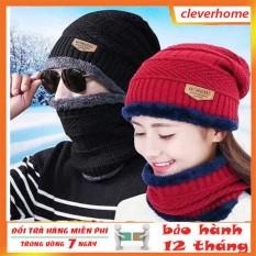 sét mũ len kèm khăn ống lót lông cao cấp, mũ len nam, mũ len nữ, mũ len cá tính,, mũ len trùm đầu, mũ len nữ hàn quốc, mũ len nam mùa đông