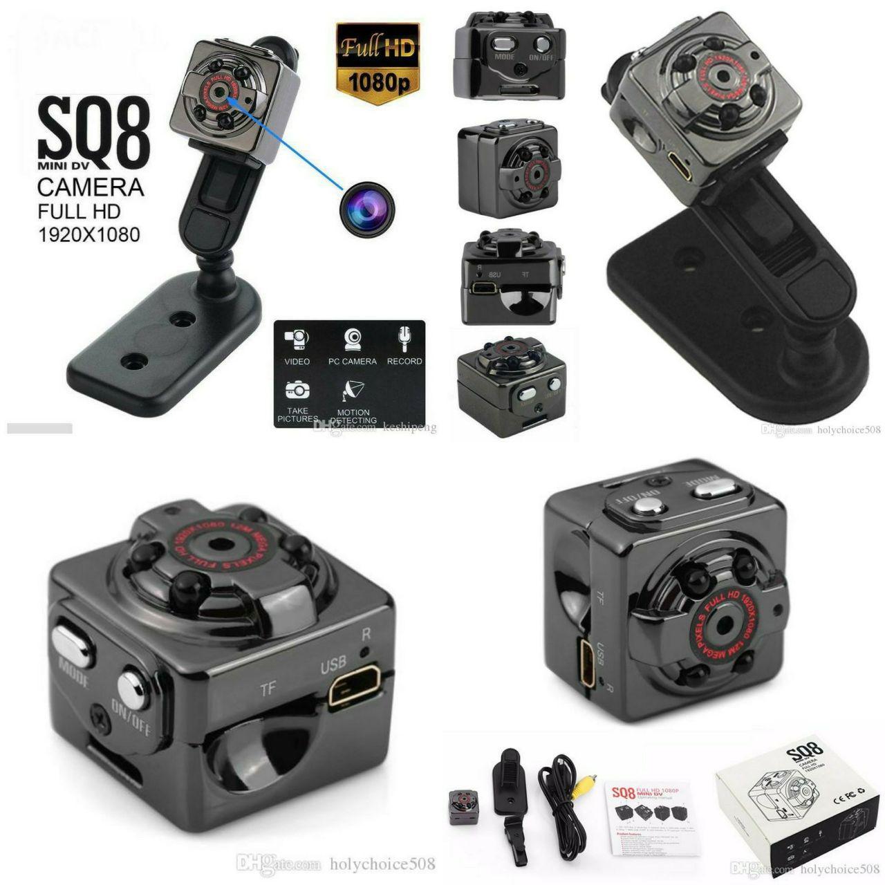 Camera mini siêu nhỏ SQ8 FULLHD 1080P 12Mpx hình ảnh rõ nét Quay cả ban ngày và ban đêm (camera...