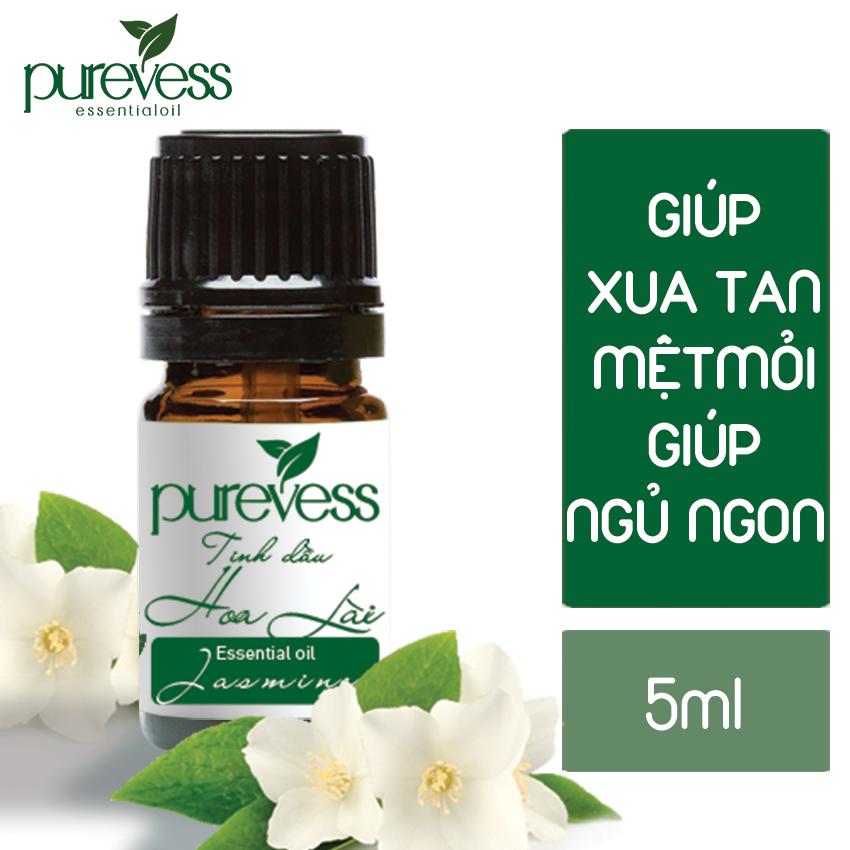 Tinh dầu thiên nhiên nguyên chất Purevess 5ml giúp giảm stress, tạo năng lượng tích cực, giảm mệt mỏi. Giá dùng thử.
