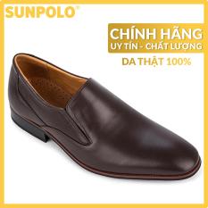 Giày Tây Nam Da Bò SUNPOLO SUMU6673 (Đen, Nâu)