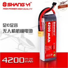 Pin Lipo ShangYi 2s 3s 4s 4200 mAh 35C – XT60 Chữ T