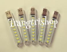 Combo 5 Đèn USB 8 Led Siêu Sáng Trắng