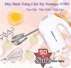 Máy đánh trứng cầm tay đa năng Netmego N38D 300W đánh trứng thật đều, thật mịn. Bảo hành 1 đổi 1