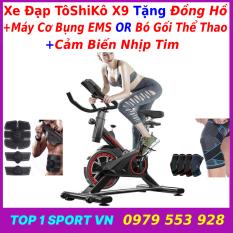 Xe đạp tập thể dục tại nhà | xe đạp tập gym | xe đạp tập thể thao tại nhà Toshiko X8 Sport Bike – tặng máy cơ bụng hoặc bó gối + Đồng hồ 6 chỉ số + cảm biến nhịp tim – bảo hành 36 tháng
