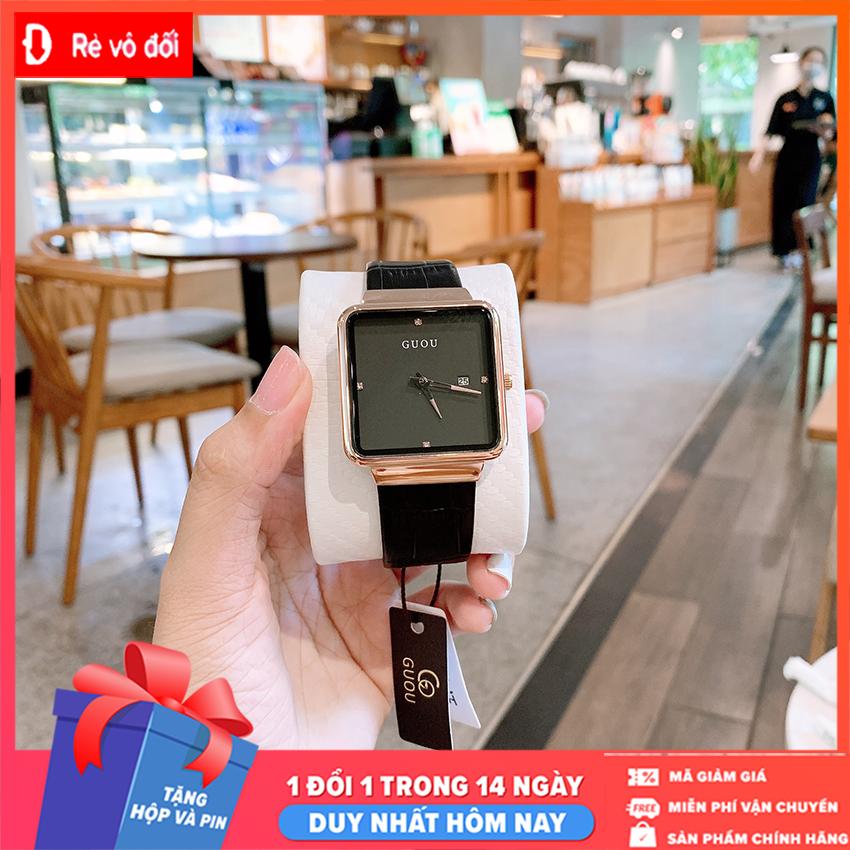 Đồng hồ Nữ GUOU Dây Mềm Mại đeo rất êm tay – Kiểu Dáng Apple Watch 40mm – Chống Nước Tốt – Tặng pin dự phòng – Sam Shop